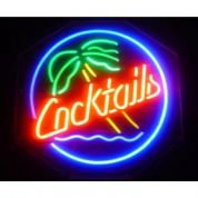 Cocktails (round) Neon Sign